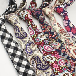 5cm Floral ties Fashion Cotton Paisley Ties For Men Slim Suits Necktie Party Ties Vintage Printed Gravatas tie