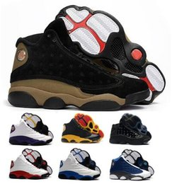 13 13s Basketball Shoes Sneakers Mens Women 2019 New Lakers Melo Olive Bred Flint Black Cat Cap And Gown Chicago Chaussure Basket Ball Shoes