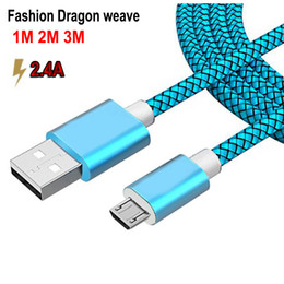 Brand 1M 3ft 2.4A Fast Data Sync Charging Cable Micro USB type c line For Samsung Huawei LG Android Micro usb Mobile Phone Cables