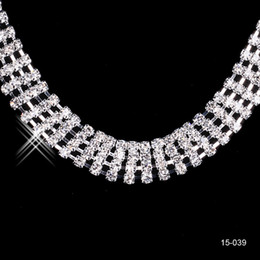 Jewelry Necklace Earring Set Cheap Wedding Bridal Prom Cocktail Evening Dresses Rhinestone In Stock Free Shipping 15029