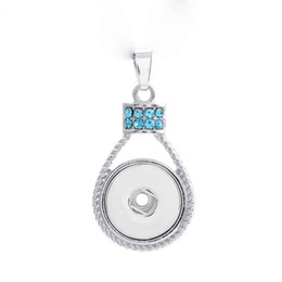 Fashion Interchangeable Metal Flower Love Ginger Crystal Necklace 188 Fit 18mm Snap Button Pendant Charm Jewelry For Women Gift