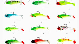 lead hook soft fish lure bass bait deep swiming sink lure