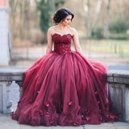 Romantic Burgundy Red Women Formal Dresses Evening Wear Sweetheart Appliques Corset Plus Size Ruched Flowers A Line Long Prom Gowns