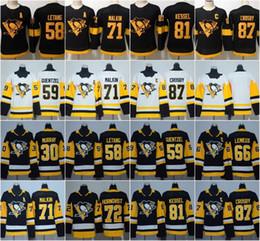 2019 Stadium Series Women Youth 71 Evgeni Malkin 87 Sidney Crosby 66 Mario Lemieux 58 Kris Letang Jake Guentzel Penguins Hockey Jerseys