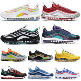 Triple White Black Women Men Running Shoes Tie Dye Pakc Bright Citron NEON SEOUL CLEAR EMERALD Mens Trainers Sports Sneakers 36-45