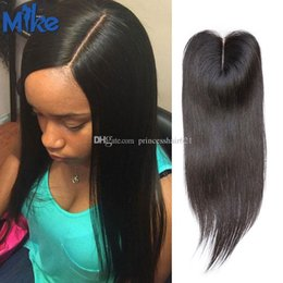 MikeHAIR Brazilian Human Hair Full Lace Closures 4x4inch Body Wave Cheap Hair Piece 8-20In Hand Tied Peruvian Indian Malaysian Hair Closures
