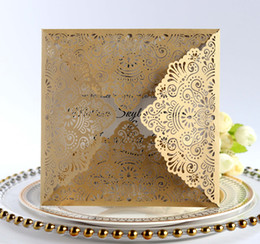 Wedding Invitations Cards Free Personlized Print Laser Cut Hollowed Elegant Wedding Invites Favors Dropship Hot Selling