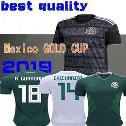 2019 Mexico GOLD CUP Black KIT Soccer Jerseys 2018 World Cup Home Away CHICHARITO Camisetas de futbol H.LOZANO G.DOS SANTOS Shirts