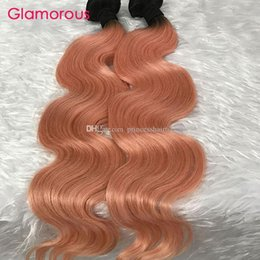 Glamorous Ombre Human Hair 3 Bundles New Popular Ombre Hair Extensions Peruvian Malaysian Indian Brazilian Hair Weft Body Wave Straight