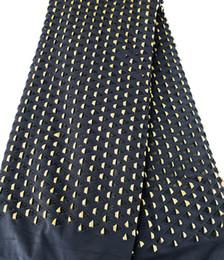 Black Gold 5 yards Guipure lace fabric African lace fabric Nigerian garment cloth big heavy flexible