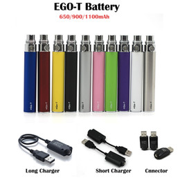 Ego t Battery 650 900 1100mAh For Electronic Cigarette E-cig Ego Battery 510 thread CE4 Atomizer Vape Pen Kit