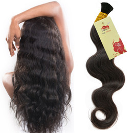 Human Hair For Micro Braids Brazilian Hair For Braids 3Pcs No Weft Bulk Hair Wet And Wavy For Braiding