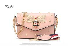 2019 Women Color splicing Little bee Bags Fashion Zipper Designer Handbag Casual Shoulder Messenger Bag New Sac Femme