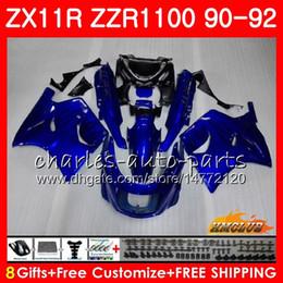 Fairing For KAWASAKI NINJA blue black hot ZZR-1100 ZX-11 R ZX11R 90 91 92 30HC.2 ZX-11R ZZR 1100 ZX11 R ZZR1100 ZX 11R 1990 1991 1992 Body