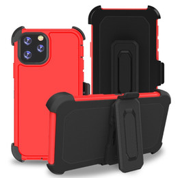 Defender Triple Hybrid Combo Case for iphone 11 Pro Max 6 6s 7 8 Plus X Xs XR Cover with Belt Clip