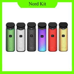 Nord Starter Kit 1100mAh Batería 3ML Pods Atomizador de cartucho electrónico con Nord Mesh Coil Vape Novo Pod Kit 0268109