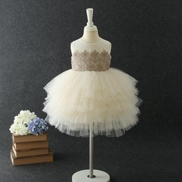 Retail baby girl 1st birthday embroidered flower girl dresses for wedding princess dress children Luxury designer clothes boutique clothing