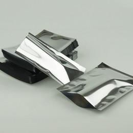 14x20cm 100pcs lot aluminium foil flat bags heat seal - Silvery aluminzing chewing gum packing bag, plating foil plastic food storage pouch