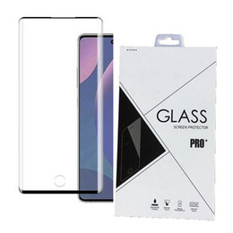 3D Curved Tempered Glass Screen Protector Edge Glue for Samsung Galaxy Note 10 10 Pro Fingerprint Unlock 600pcs lot retail package