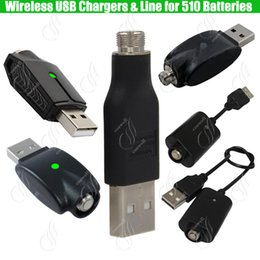 Top Wireless 510 ego USB Charger for 510 Thread Preheating BUD touch Thick Oil Battery IC protect eCigs Mods Cell Batteries Adapter Chargers