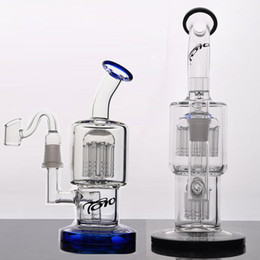 Fab Egg TORO recycle Oil Rigs water pipe glass bongs with pinholes diffuser perc quality glass dabs straight fabegg