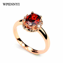 Top Quality Red Zirconia Crystal Erstwhile Memory Delicate Women Finger Rings Wholesale Christmas Gifts