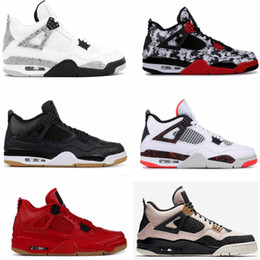 4s Pale Citron WHITE CEMENTS Mens basketball Shoes Splatter nrg fire red Single Day TATTOO Sneaker Black SE Laser 4 Trainers