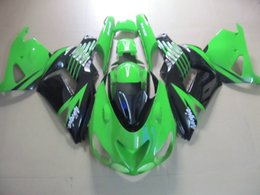 Green Black Fairing body kit for KAWASAKI Ninja ZX14R 06 07 ZX-14R ZX 14R 2006 2007 Injection mold Fairings set