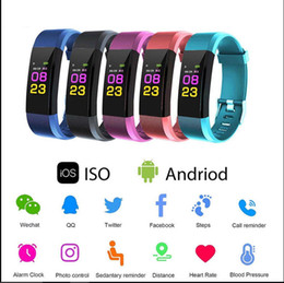 single-piece ID115 Plus Smart Wristband Heart Rate Monitor blood pressure watch Pedometer Fitness Tracker bracelet activity smart band