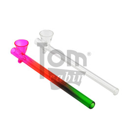 Pyrex Glass Oil Burner Pipe Length Rainbow Smoking Handle Pipes Hookah Shisha Water Pipes Bong Tobacco Hand Pipes Spoon Pipe Dab Rigs