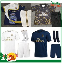 19 20 Real madrid kids kit Soccer Jersey HAZARD JOVIC Benzema ASENSIO football Modric Kroos Sergio Ramos Bale Marcelo 2019 2020 shirts