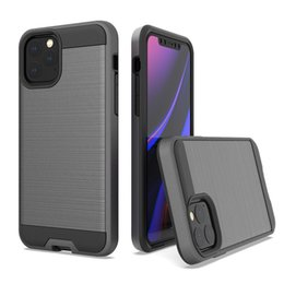 Dual Layer Slim Armor Brushed Case for iphone 11 Pro Max 6 6s 7 8 Plus X Xs XR Hard Cover Shockproof