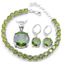 Luckyshine Women Pendants Bracelet Earring Bridal Jewelry Sets Silver plated Crystal Zircon Fashion Wedding Jewelry Sets NEW