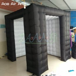 High quality Cheap inflatable photo booth backgrounds,black outerior foto booth,cube kiosk with bigger entrance on discount