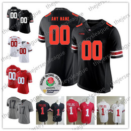 Ohio State Buckeyes Custom Any Name Number Stitched White Black Gray Red #1 Fields 17 Chris Olave NCAA College Football Jersey