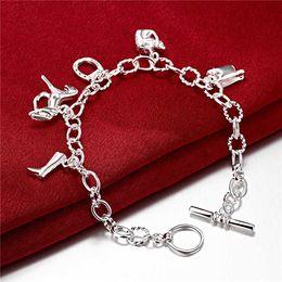 Hot sale best gift 925 silver Horseshoe Bracelet DFMCH074, brand new fashion 925 sterling silver plated Chain link bracelets