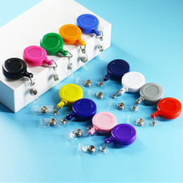 27 Colors Plastic Retractable Badge Holders with Carabiner Reel Clip and Vertical Style Clear ID Card Holders