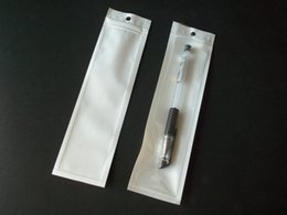 5x18cm zipper white retail plastic package bag clear poly opp bag pen stylus small jewelry accessories packing bag