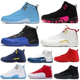 Basketball Shoes 12 12s Men Shoe DOERNBECHER FIBA Reverse Taxi Game Royal French Blue UNC Mens Trainers Outdoor Sports Sneakers 7-13