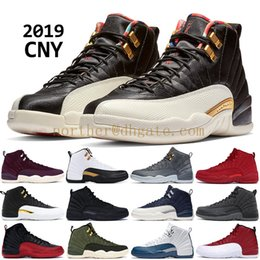 2019 CNY Winter black 12 12s men basketball shoes XII PRM Bordeaux Nylon OVO black white PNSY wool Designer sneakers trainers US 7-13