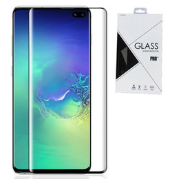 Full Adhesive Glue Full Cover Tempered Glass 3D Curved For Samsung Galaxy S10 S10 PLUS S10E IN Retail package 120pcs lot