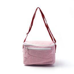 Free shipping wholesale seersucker lunch bag cooler bag in six different beautiful colors seersucker food carrier DOM103032