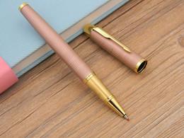 2pc Business mertal IM Pink Golden Arrow Clip gift Rollerball Pen