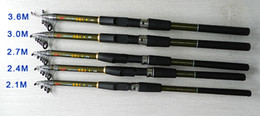 HENGJIA Telescopic Fishing Rod 2.1m 2.4m 2.7m 3m 3.6m FRP Ultra Light Fishing Stick Spinning Fishing Rod FR901 free shippin