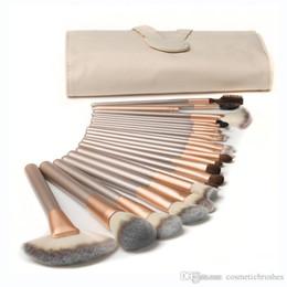 Mybasy New Design Professional Beige 24pcs Makeup Brushes Sets Cosmetics Makeup Brush Set Oval Cosmetic Foundation BB Cream Powder Blush