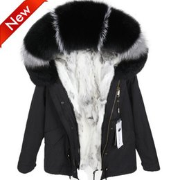 Women's mini military Jacket with Detachable Real rabbit fur Liner and Raccoon fur collar Sweden Norway DHL SHIPMENT maomaokong