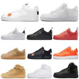 fashion designer casual shoes men women Chaussures utility 1 one Triple Black White Red Wheat mens trainers Sneakers 36-45 vintage