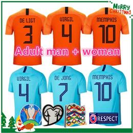 2019 2020 Netherlands soccer jerseys DE JONG Holland football shirt DE LIGT VAN DIJK VIRGIL Adult man + woman jersey STROOTMAN football