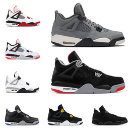 2019 Bred 4s mens basketball shoes 4 Cool Grey PALE CITRON PURE MONEY OREO white cement ALTERNATE Wings fashion men sports sneakers