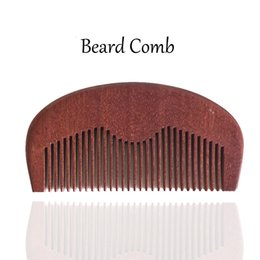Wooden Beard Comb Wholesale Fine Teeth Handmade Wood, Perfect for use with Balms and Oils, Fade Comb Over Hair Style Xmas Gift for Men Women